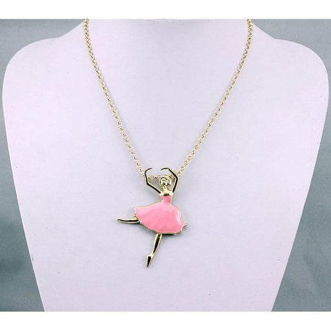 Ballerina Dancing Girl Pendent Necklace - Abco... Store