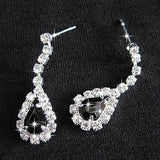 Crystal  Pendant Earrings Necklace Jewelry Set - Abco... Store