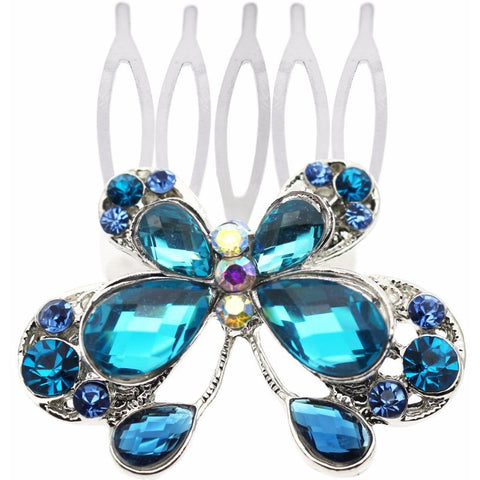 Vintage crystal butterfly Hair combs Sticks Clip Headdress hairpin - Abco... Store