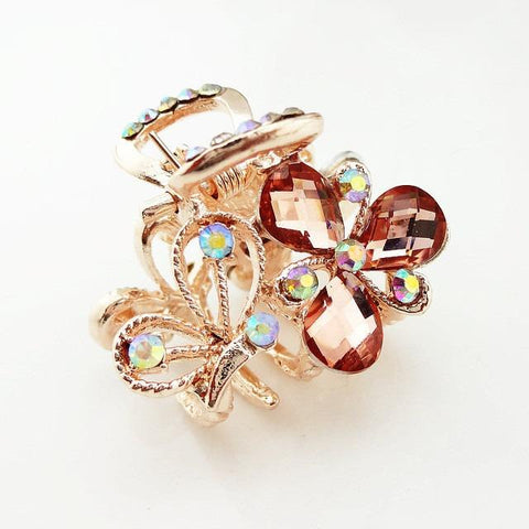 Elegant Charming Chic Rhinestone Hair Claw Butterfly - Abco... Store
