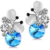 Beautifully designed Crystal Rhinestone Butterfly Stud Earrings - Abco... Store