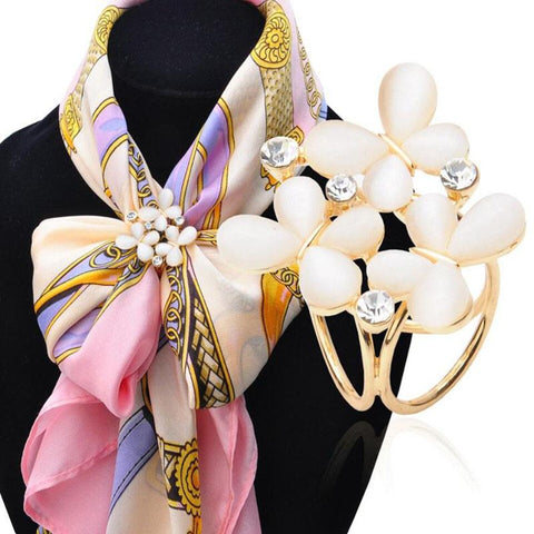 1pc Butterfly Flower Rhinestone Scarves Clip Shawl Buckle - Abco... Store