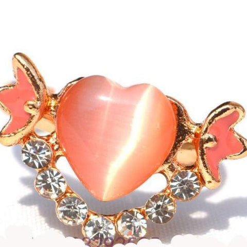 Heart Shape Opal Painted Rings for Lady Rose Gold Color Engagement alliance - Abco... Store