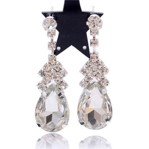 New Design Crystal Stud Earrings - Abco... Store