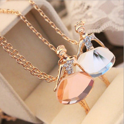 Ballerina Statement Pendant Necklace (Long) - Abco... Store