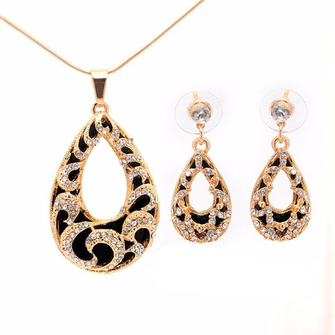Oval Pendant Necklace + Earrings - Abco... Store