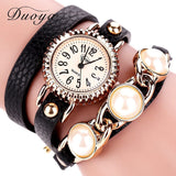 Watches  Gold Pearl Leather Dress Wrist watches  Luxury Bracelet - Abco... Store