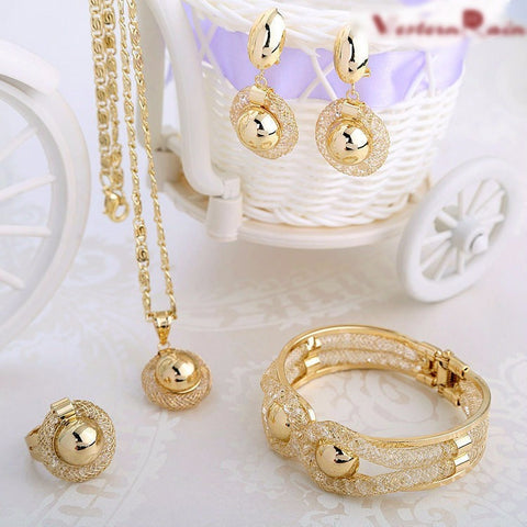 Rain Charming Lady  Gold Plated Jewellery Sets - Abco... Store