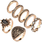Ring Set Fashion Show Rings  Gold Yunkingdom Vintage Small Size - Abco... Store