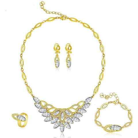 Crystal Leafe of Love Jewellery Set - Abco... Store