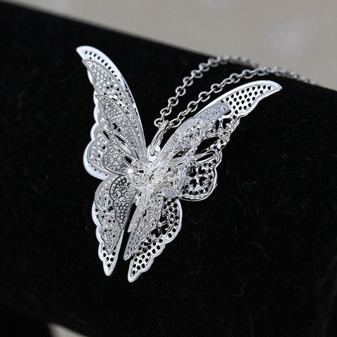 Lovely Butterfly Pendant Chain Necklaces Jewelry - Abco... Store