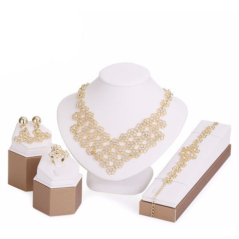 Jewelry Sets Imitation Crystal Gold Plated - Abco... Store