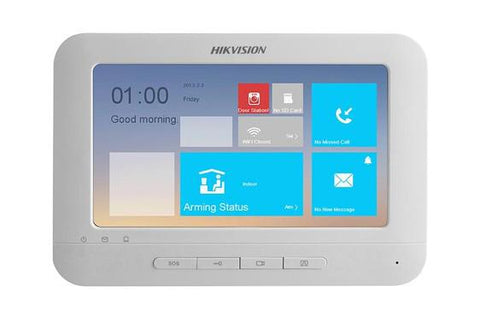 HikVision DS-KH8300-T Video Intercom Indoor Station with 7-inch Touch Screen