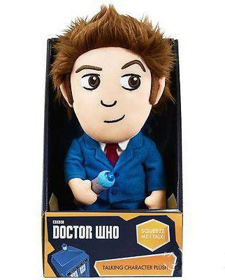 Doctor Who David Tennant (10th) Soft Toy Talking Plush - Lights & Sounds