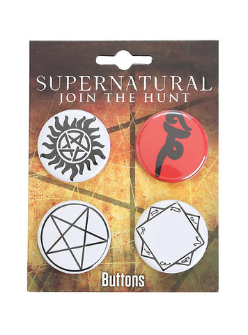 Supernatural Symbol's Pin Set