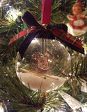Supernatural Inspired Glass Ornament - Sam Winchester