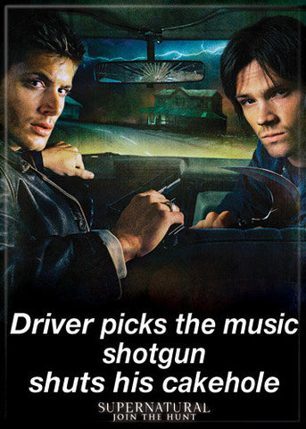 Supernatural Photo Magnet - Shotgun Shuts Cakehole