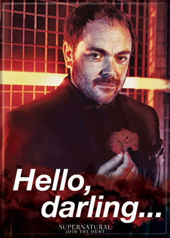 Supernatural Photo Magnet - Crowley Hello Darling