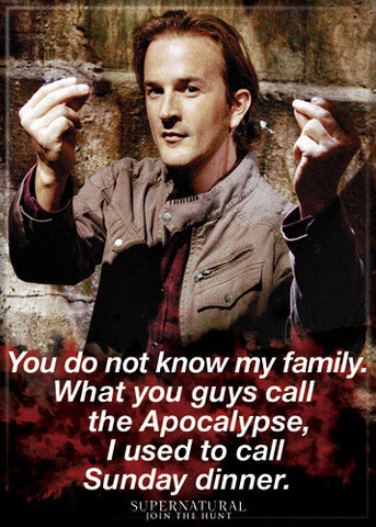 Supernatural Photo Magnet - Gabriel Sunday Dinner
