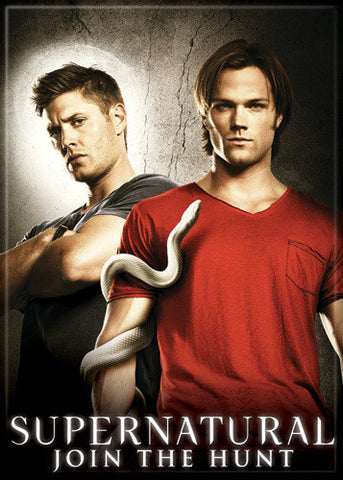 Supernatural Photo Magnet - Dean Sam with Snake