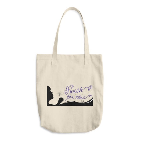 I Wish For This Cotton Tote Bag - Purple