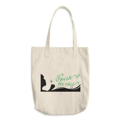 I Wish For This Cotton Tote Bag - Green