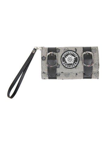 Supernatural Winchester Brothers Double Buckle Flip Wallet