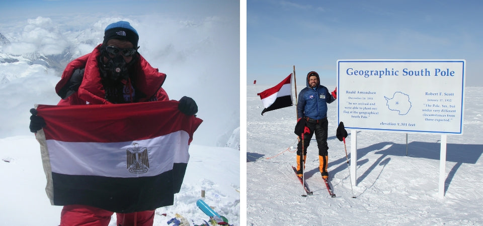 Omar summits Everest and reaches the South Pole
