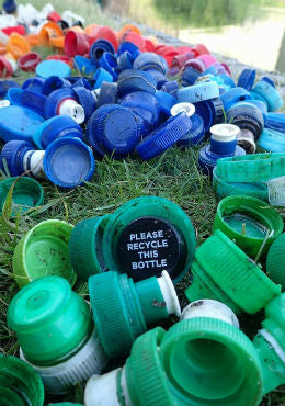 Bottle tops found on Clare's Paddle Pickup