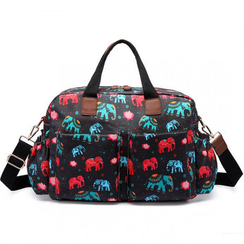 Elephant Black Changing Bag Set