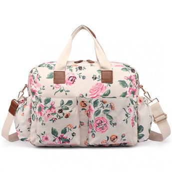 Vintage Floral Changing Bag Set Cream - Goodies 4 Mummies Pre Packed Maternity Bags