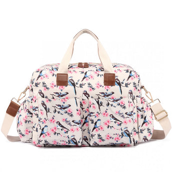 Bird Changing Bag Set Cream
