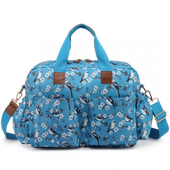 Bird Changing Bag Set Blue