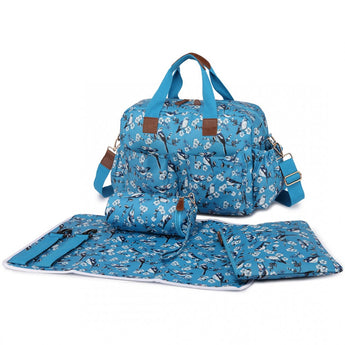 Bird Changing Bag Set Blue - Goodies 4 Mummies Pre Packed Maternity Bags