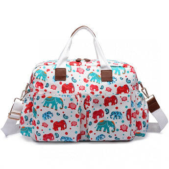 Elephant White Changing Bag Set