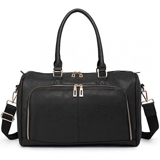 Soft Faux Leather Black - Goodies 4 Mummies Pre Packed Maternity Bags