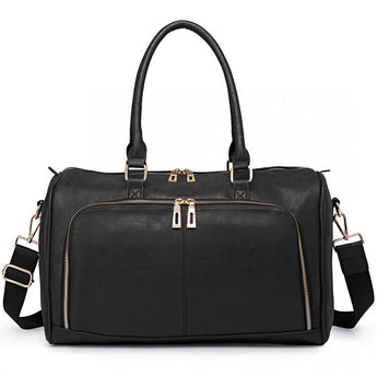 Faux Leather Changing Bag Set Black