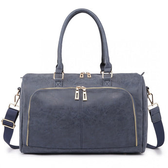 Faux Leather Changing Bag Set Navy