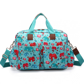 Elephant Light Blue Changing Bag Set