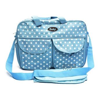 Blue Polka Dot Changing Bag - Goodies 4 Mummies Pre Packed Maternity Bags