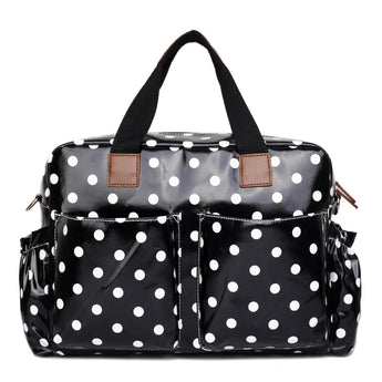 Polka Dot Black Changing Bag Set