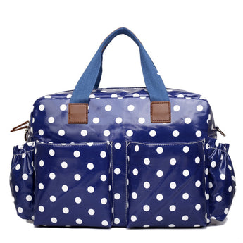 Blue Polka Dot Changing Bag Set