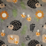 Double Sided Fox /Hedgehog Blanket