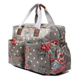 Floral Changing Bag Set Grey - Goodies 4 Mummies Pre Packed Maternity Bags