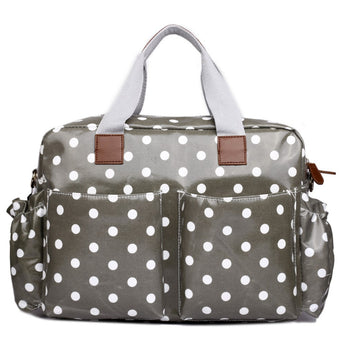 Grey Polka Dot Changing Bag Set