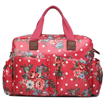 Red Floral Changing Bag Set - Goodies 4 Mummies Pre Packed Maternity Bags