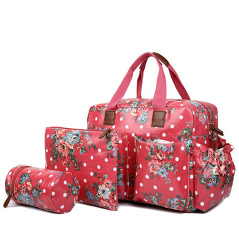 Floral Changing Bag Set Red - Goodies 4 Mummies Pre Packed Maternity Bags