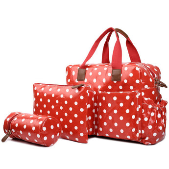 Polka Dot Changing Bag Set Red - Goodies 4 Mummies Pre Packed Maternity Bags