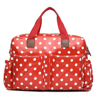 Red Polka Dot Changing Bag Set