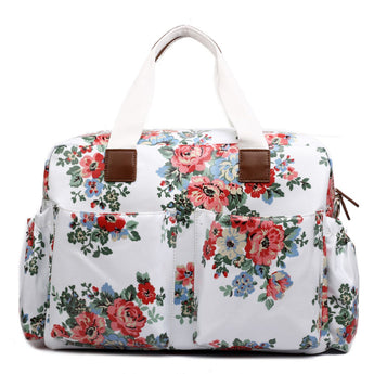 White Floral Changing Bag Set